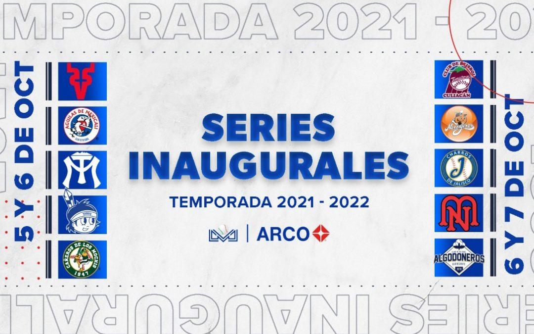 Así se jugarán las series inaugurales de la Liga Arco Mexicana del Pacífico