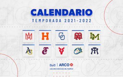 CALENDARIO OFICIAL DE LA TEMPORADA 2021-2022 DE LA LIGA ARCO MEXICANA DEL PACÍFICO
