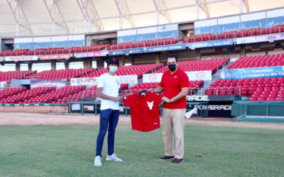Esteban García Álvarez porta por primera vez el jersey de Venados de Mazatlán